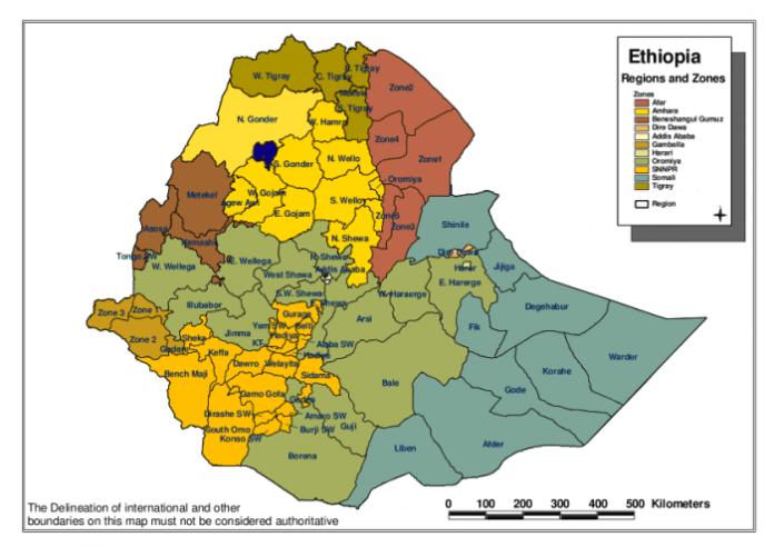 Map Created by: Disaster Prevention and Preparedness Commission (DPPC) Information Centre UN OCHA-Ethiopia