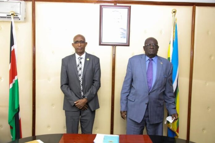 Education ministers of Somaliland Ahmed Mohamed dirie and Kenya George Magoha