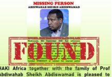 Somali scholar Abdiwahab Sheikh abducted in Kenya released