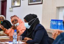 The UN Deputy Secretary-General Amina Mohammed (foreground right) meets women leaders in Mogadishu, Somalia.