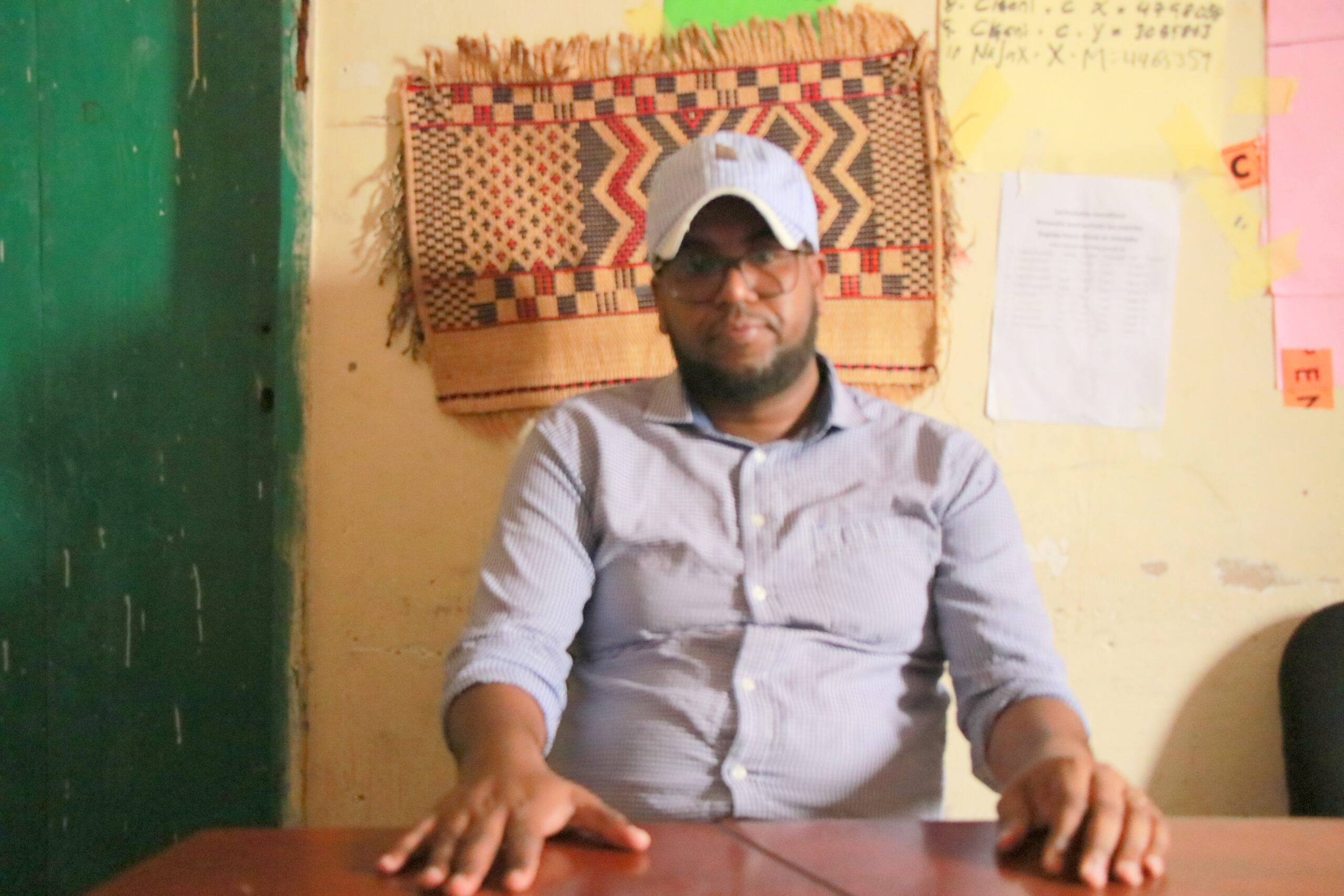 Mohamed Jama Hussein, a Science teacher at Sheedaha primary and intermediate school in Hargeisa/  photo by Horndiplomat